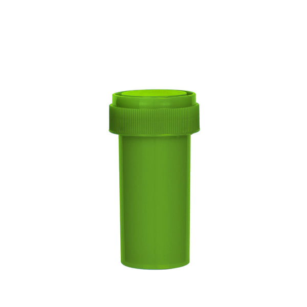 Solid Green Reversible Cap Vial 13 Dram