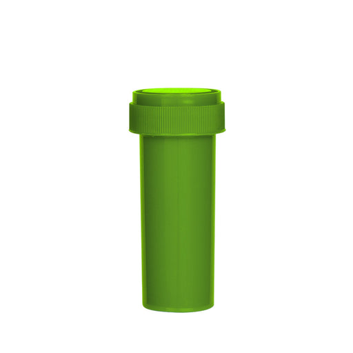 Solid Green Reversible Cap Vial 16 Dram