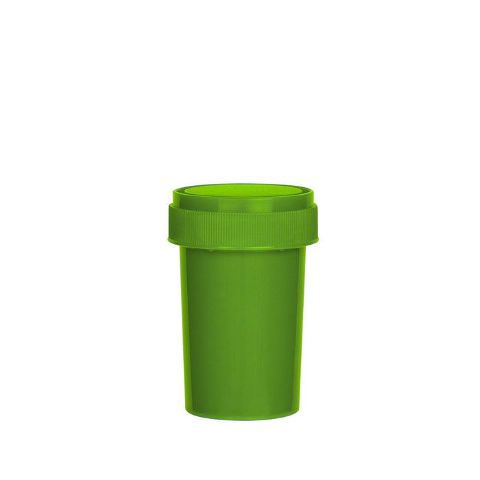 Solid Green Reversible Cap Vial 20 Dram