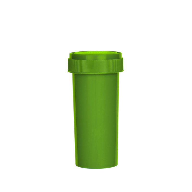 Solid Green Reversible Cap Vial 30 Dram