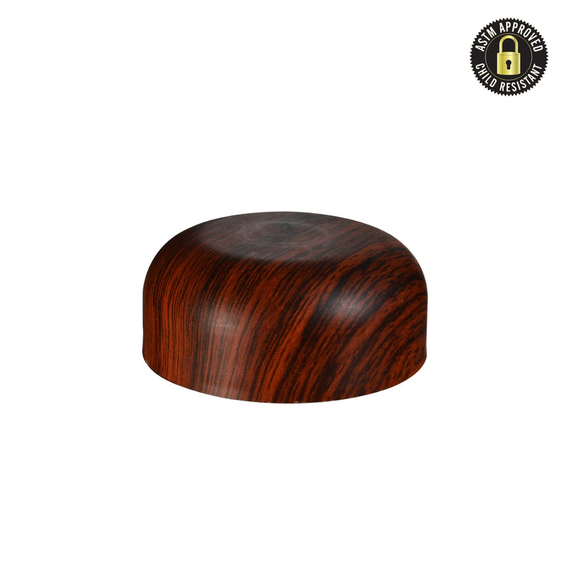 Arched Redwood Wood Print Child Resistant Cap 53 MM - 120 Count