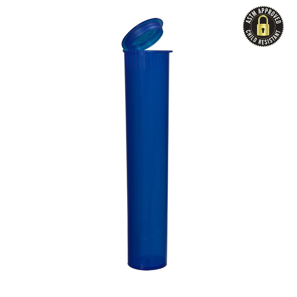 Translucent Blue Child Resistant Joint Tube 95mm – 1,000 Count