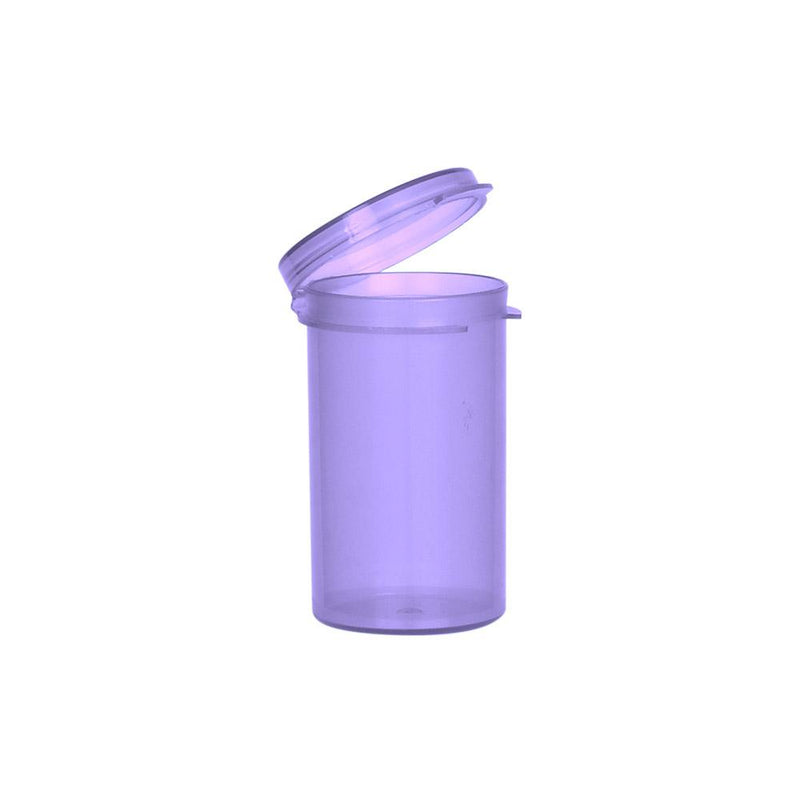 6 Dram Hinged Lid Vials purple
