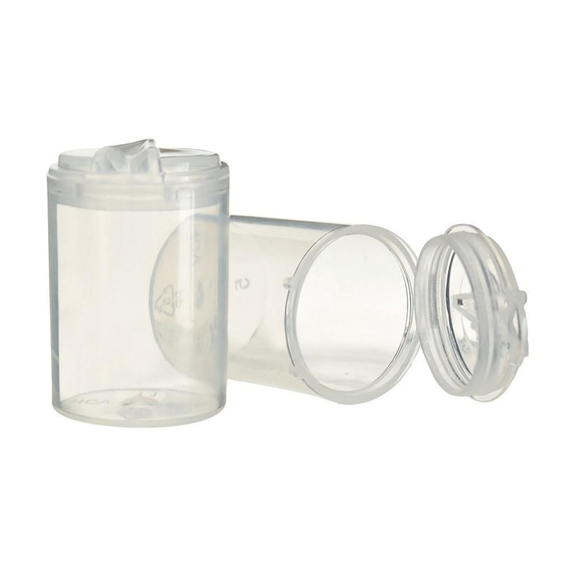 Pop Top Concentrate Containers 5ml - Clear