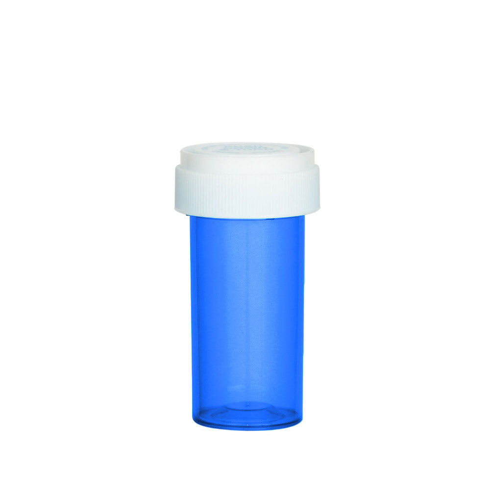 Blue Reversible Cap Vial 13 Dram