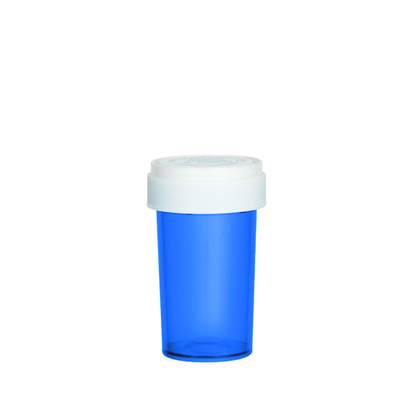 Blue Reversible Cap Vial 20 Dram