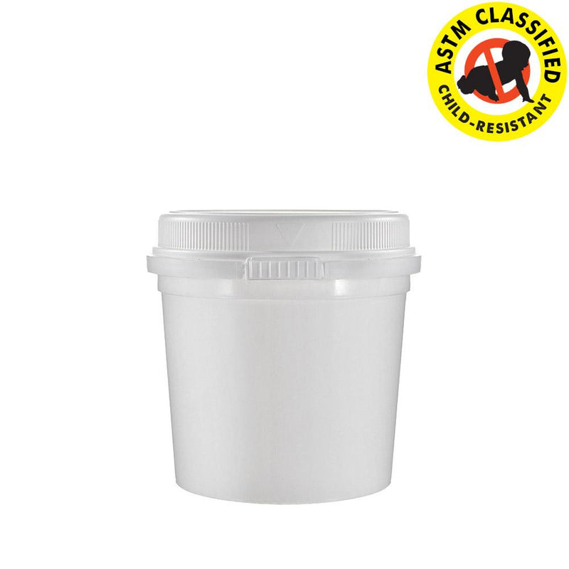 12oz Child Resistant & Tamper Evident Container (Fits 0.75 Ounce)