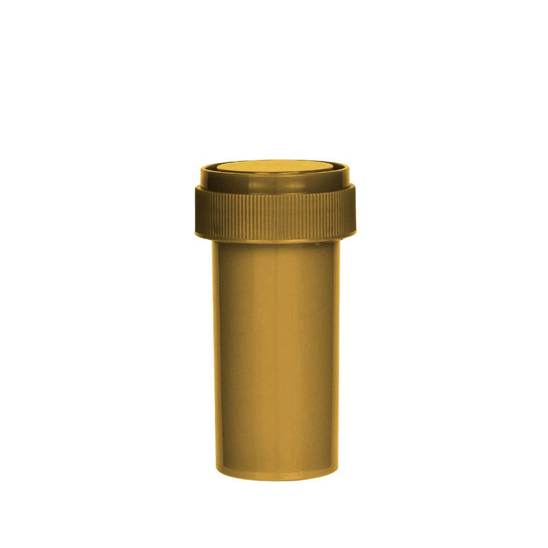 Opaque Gold Reversible Cap 13 Dram - Blank Cap - 275 Count