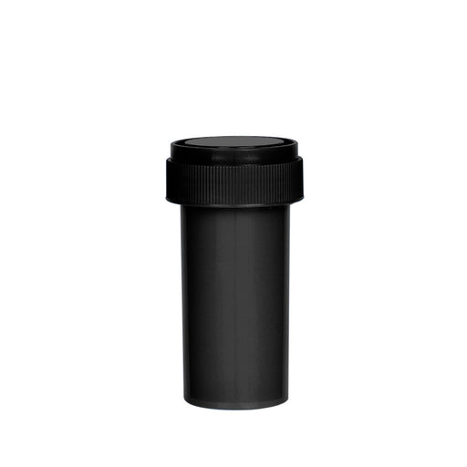 Black Reversible Cap Vial 13 Dram