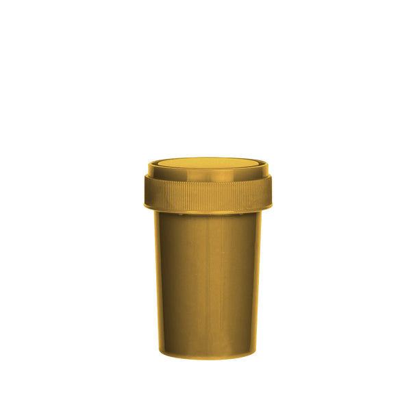 Gold Reversible Cap Vial 20 Dram