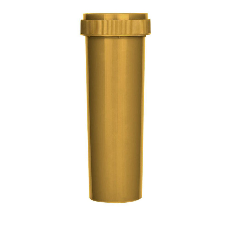 Opaque Gold Reversible Cap 60 Dram - Blank Cap - 100 Count