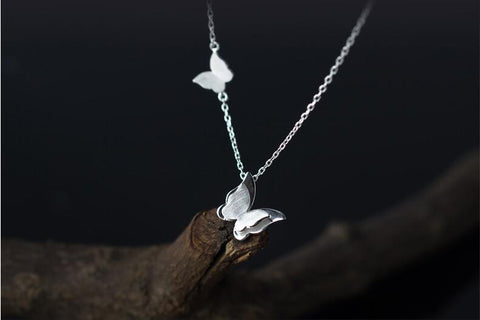 Double Butterfly Necklace - Thallo Shop