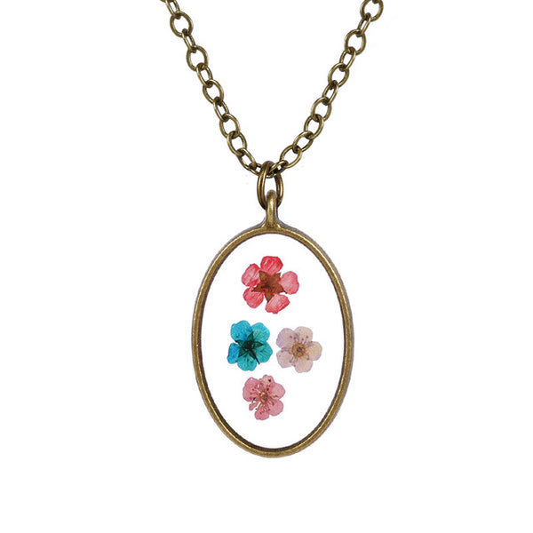 Resin Flower Necklaces - Thallo Shop