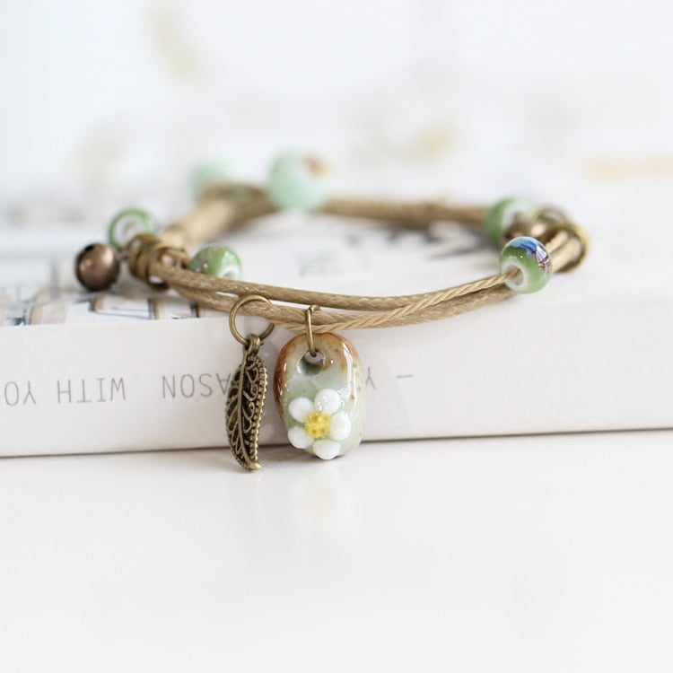 Ceramic Beads Bracelet - Thallo Shop