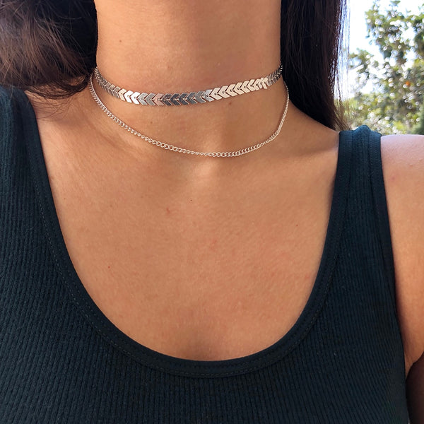 Multi Arrow Choker - Thallo Shop