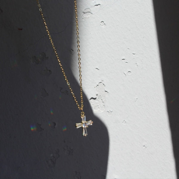 S925 Sterling Cross Necklace - Thallo Shop