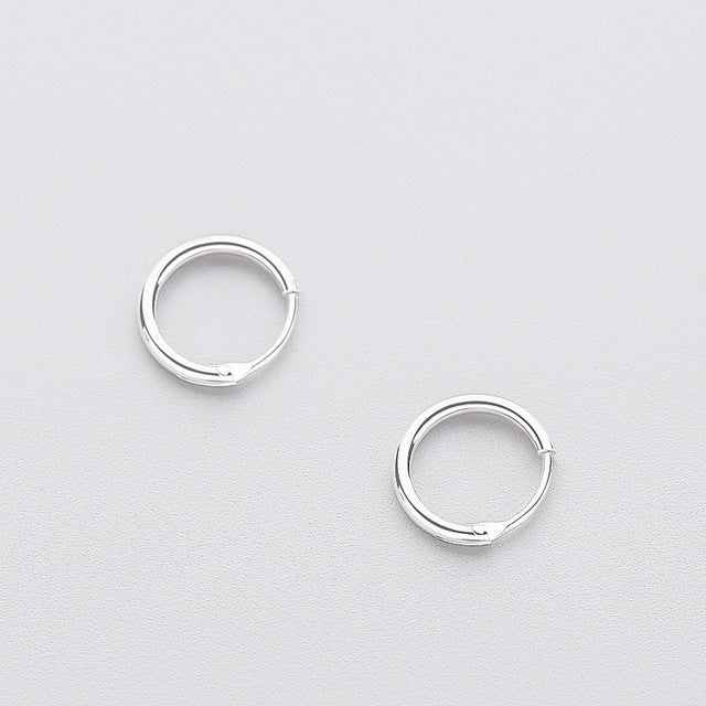 Minimalist Sterling Silver Hoop Earrings - Thallo Shop