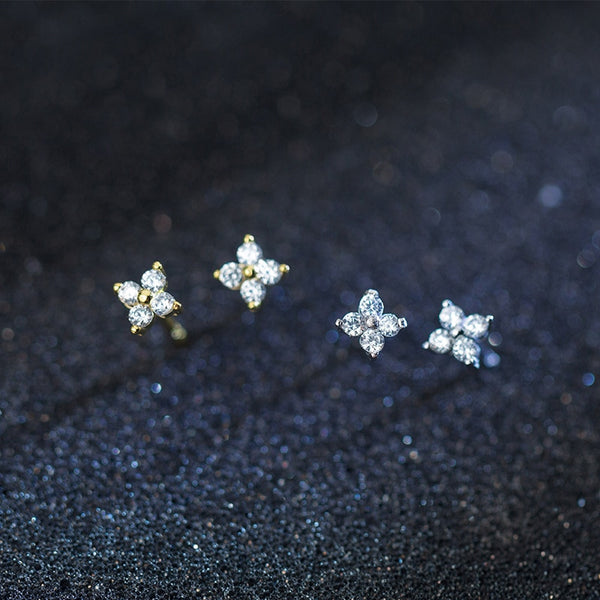 Romantic Simple Flower S925 Stud Earrings - Thallo Shop