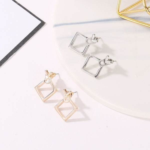 Square Stud Earrings - Thallo Shop
