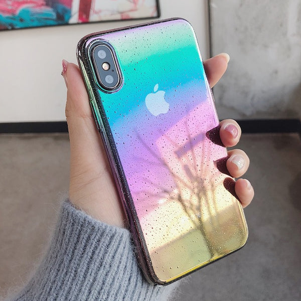 Colourful Gradient Water Drop Cover Case - Thallo Shop