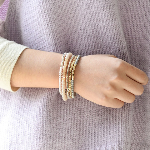 Crystal and Beads Bracelets - Thallo Shop