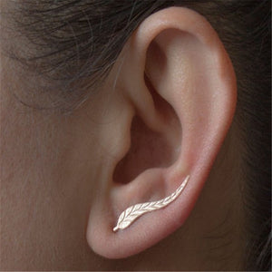 Simple Leaf Stud Earrings - Thallo Shop