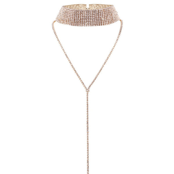 Lux Crystal Choker - Thallo Shop