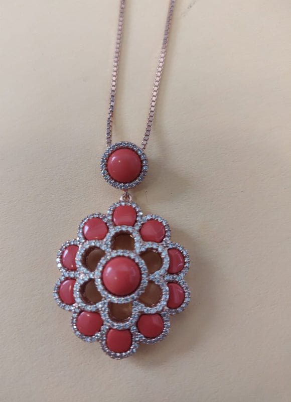 Coral Flower Silver 925  - APS262706W