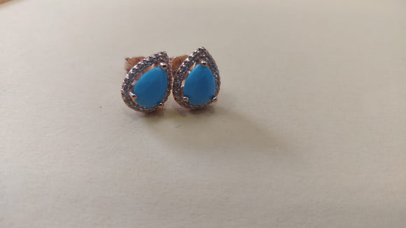Turquoise Earrings Silver 925  - AES35258