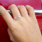 Silver 925 Initial Ring