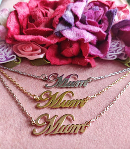 Silver 925 MUM Necklace