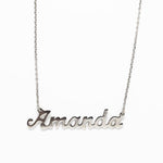 Personalised Name Necklace - 925 Silver