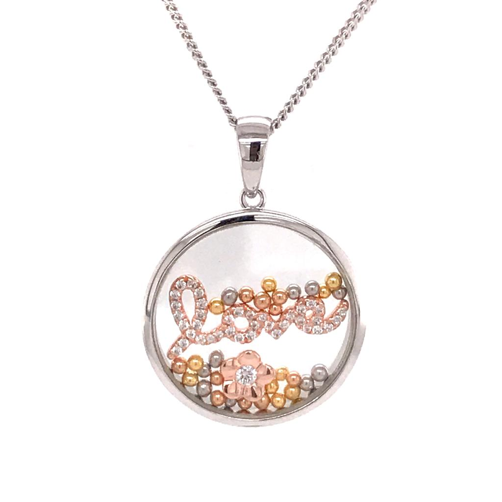 Silver 925 Necklace with Love (CHP-0821P)