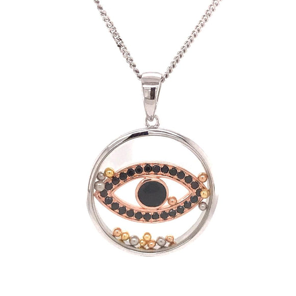 925 Silver Necklace Evil eye  (CHP-0826P)