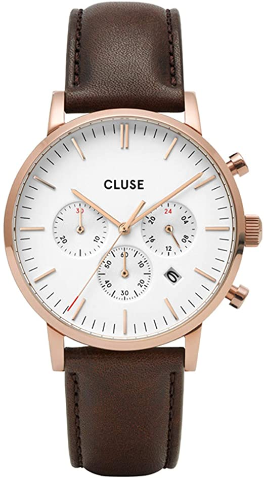 Aravis Chrono Leather Brown, Rose Gold Colour CW0101502002