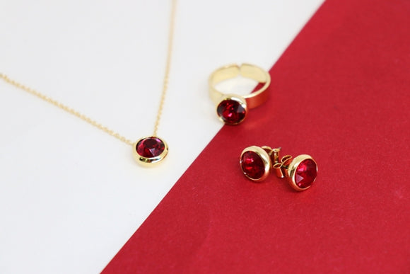 January Birthstone Set