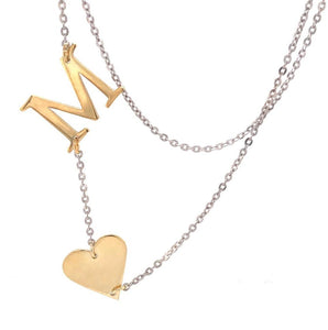 Side Heart A Necklace