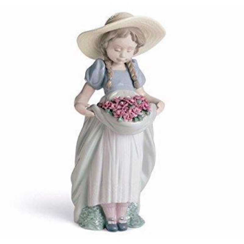 Bountiful Blossoms Girl with Carnations Figurine (1007229)
