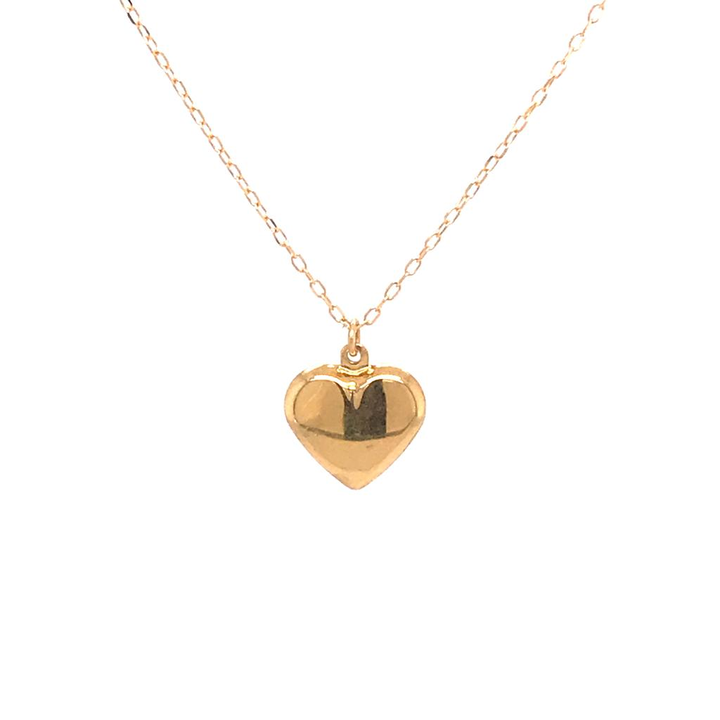 Gold Heart Necklace (764490;751683)