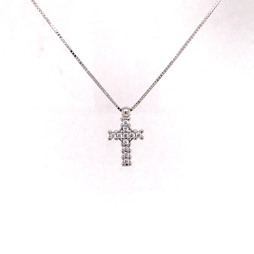 White gold Cross Necklace (766763;752911)
