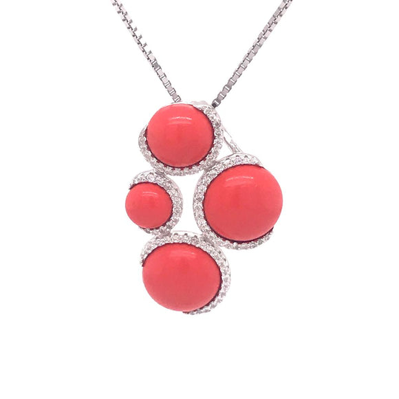 Coral Necklace Silver 925 - 83571PWCRL