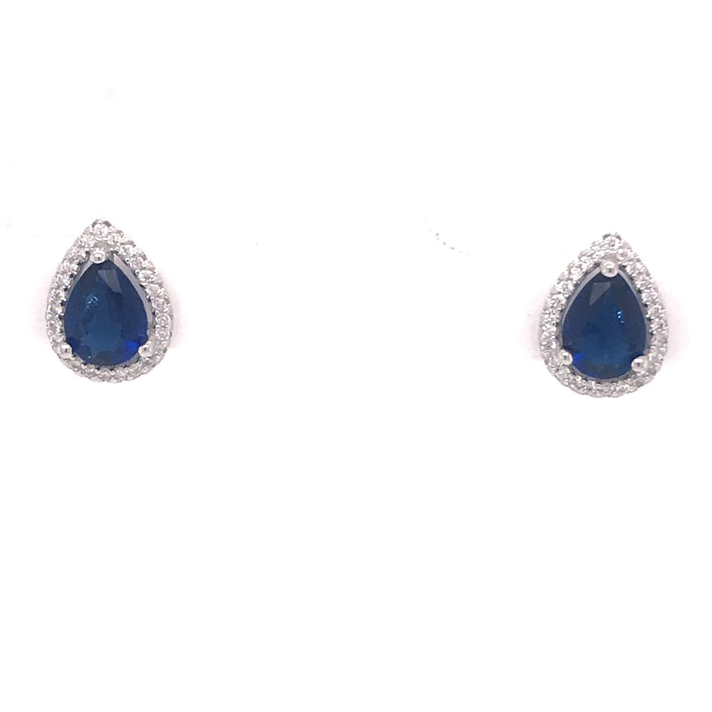 Blue Earrings Silver 925 - AES35258BLU