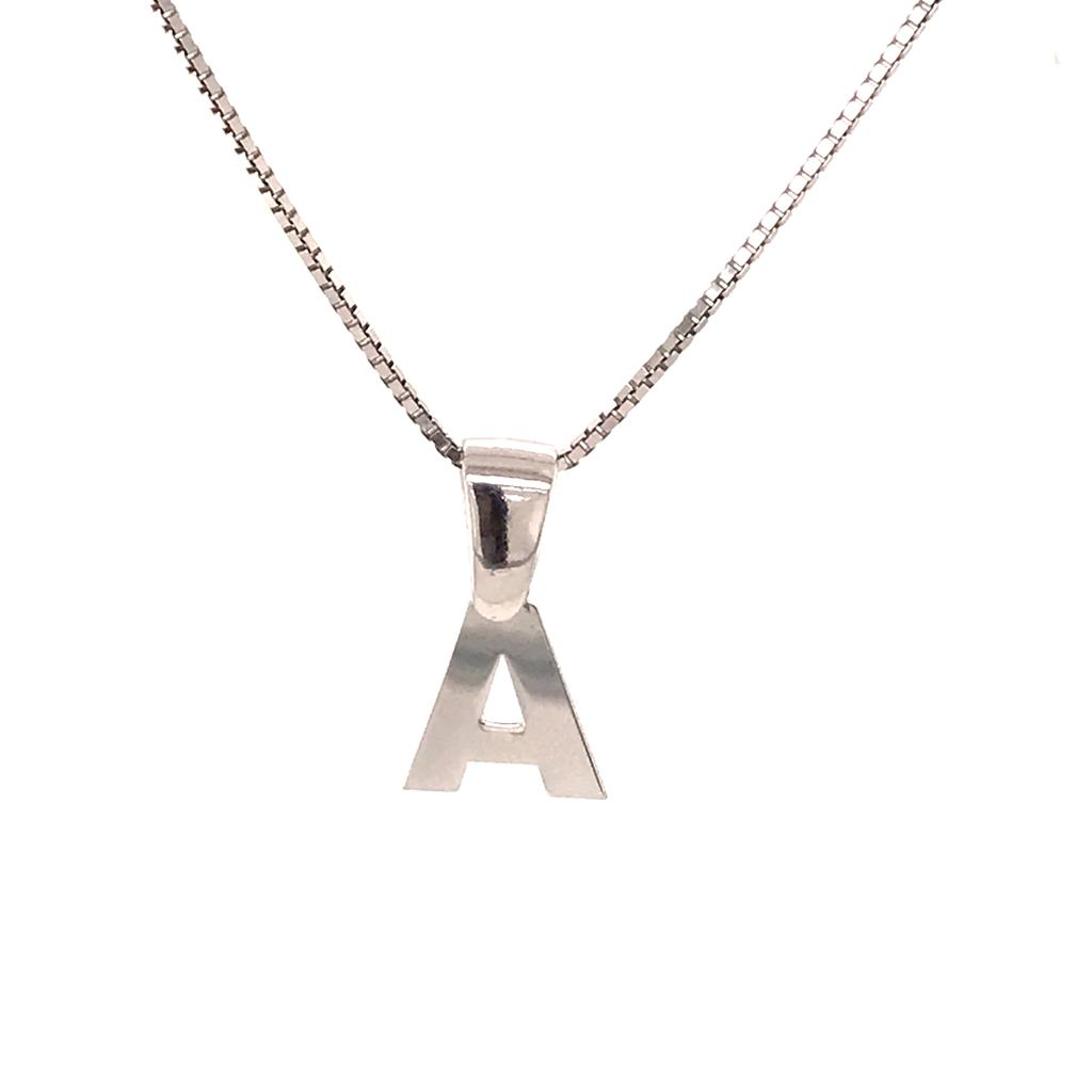 Silver 925 Initial A