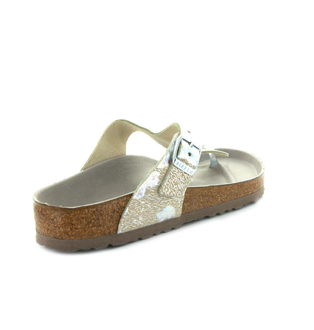Birkenstock - Gizeh - Natural Leather - Spotted Metallic Silver