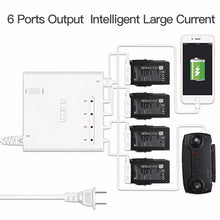 Load image into Gallery viewer, Intelligent Multi-charger for DJI Mavic Air Drone 6 In 1 Multi Battery Charging Hub
