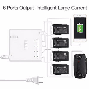 Intelligent Multi-charger for DJI Mavic Air Drone 6 In 1 Multi Battery Charging Hub