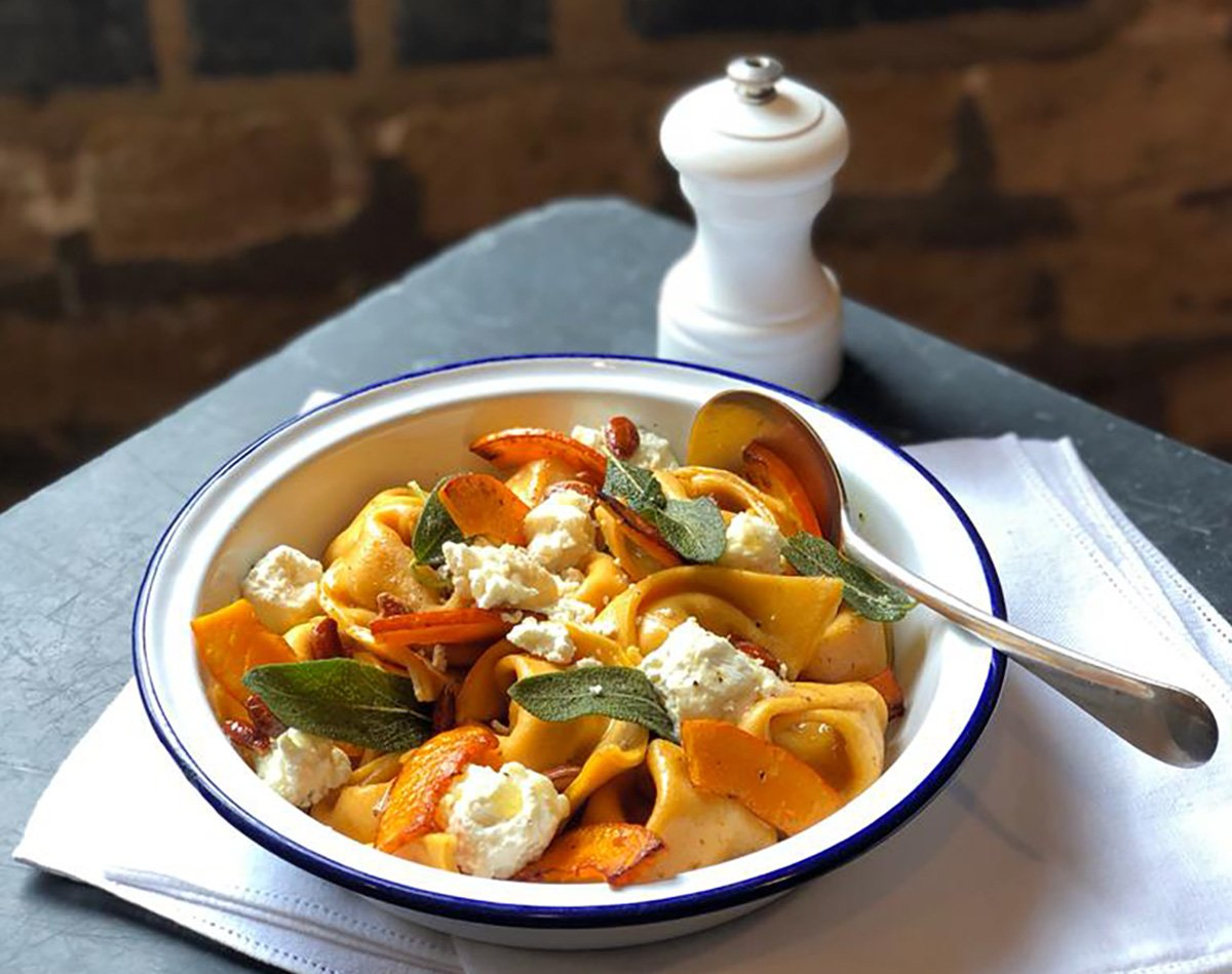 St. Tola Tortelloni with Winter Squash, Sage, and Brown Butter