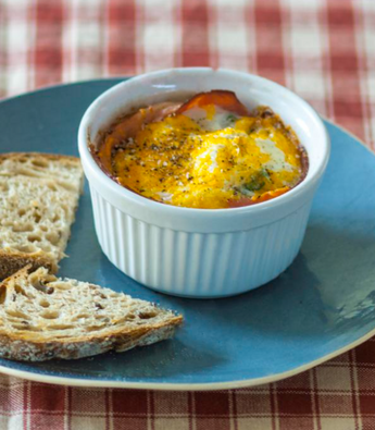 Baked Ham and Egg Pots