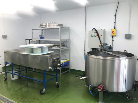 The cheesemaking room at Pevensey Blue