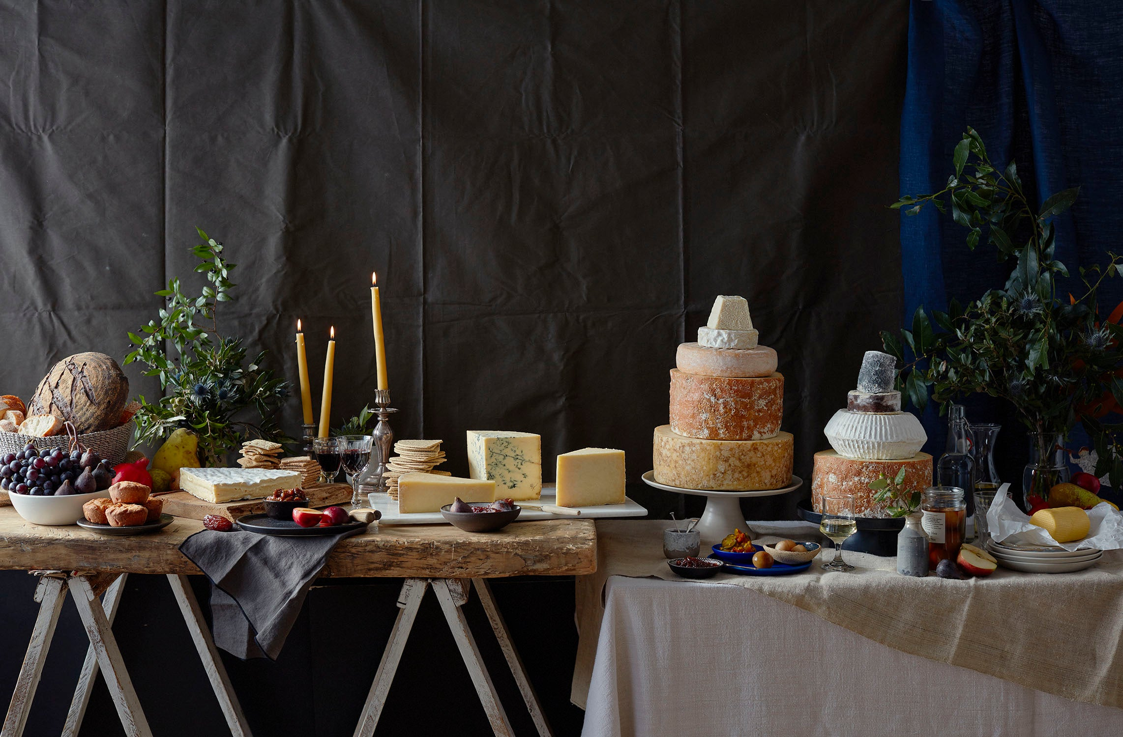 Cheese Wedding Cake Table
